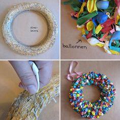 Cadeautje voor jou: handleiding van een feestelijke ballonnenkrans