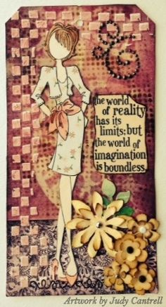 I used a Julie Nutting stamped image with Tim's stencils, stamp, strip die, inks and Dyan's stencils.