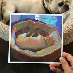 Pchan — some paintings of my dog Henry. And a pig