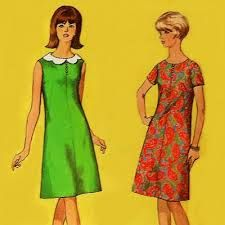 Image result for 60s sleeve patterns for dresses