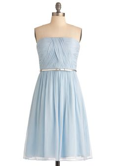 Beautiful strapless party dress.