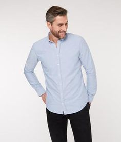 Casual Oxford shirt in blue