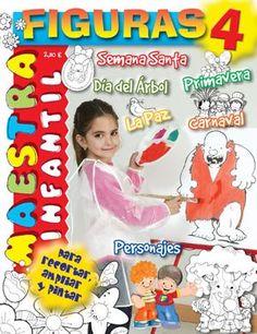 FIGURAS INFANTIL 4 Elementary Spanish, Kindergarten, Wedding Decorations, Album, How To Plan, Signs, Children, School, Editorial