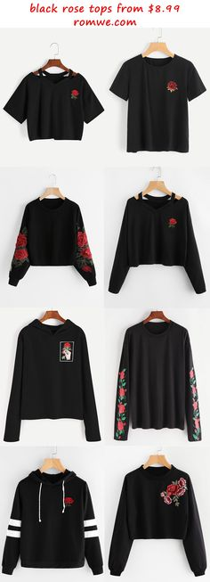 black rose tops 2017 - romwe.com