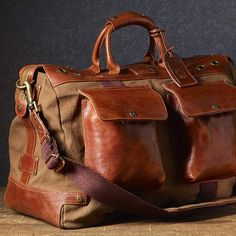 Will Leather Goods: Traveler Duffle (Tobacco) from TRADE Men's Wares for $395 on Square Market