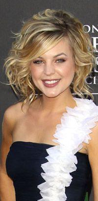 Kirsten Storms' side swipe hairstyle