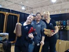 We love setting up for our trade shows! Trade Show, Leather