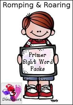 The All New Romping & Roaring Primer Sight Words Packs - all 52 words with 10 pages of activities per word $.  - 3Dinosaurs.com
