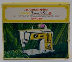 Vintage Singer 630 Golden Touch & Sew Deluxe Zig Zag Sewing Machine Accessories #Singer