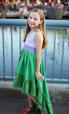 Hope's Hi-Low Dress PDF Pattern Sizes 6/12m to 8 Kids   Etsy High Low Skirt, Hi Low Dresses, Pdf Sewing Patterns, Little Princess, Dream Dress, Boutique Clothing, Flower Girl Dresses, Fancy, Wedding Dresses