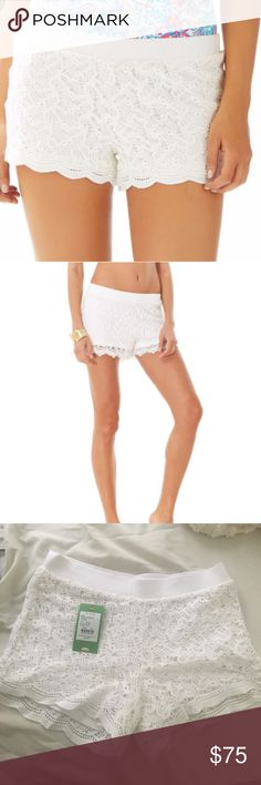 Lilly Pulitzer Lace Shorts size XS Lilly Pulitzer Resort White Anchor Lace Shorts (NWT) size XS Lilly Pulitzer Shorts