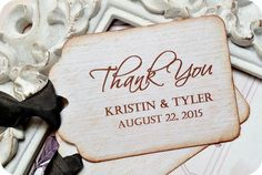 NEW  Personalized Thank You Favor Tags  by LittlePaperFarmhouse