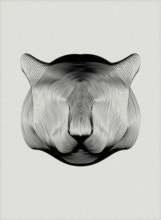 IdeaFixa » Animais no padrão moiré
