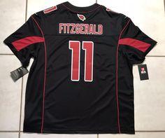 6aa7405b0 NWT NIKE Arizona Cardinals Larry Fitzgerald COLOR RUSH NFL SEWN Jersey Men  2XL