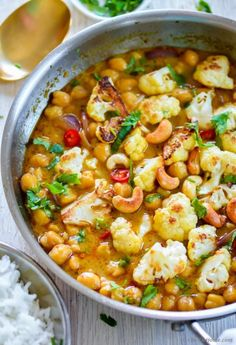 I'm always trying new ways to bring easy and healthier weeknight meals on dinner table. A flavorful main course such as this chickpea cauliflower curry keeps dinner interesting and encourages every...