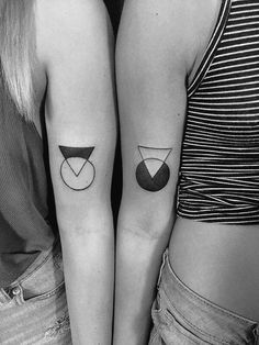 matching tattoo geometric matching tattoos