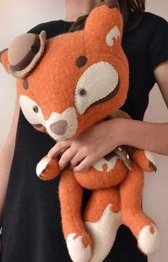 Art Toy - Sherlock Fox. $190.00, via Etsy.  Never too old for a plush toy ;)  OMG I want that so bad!