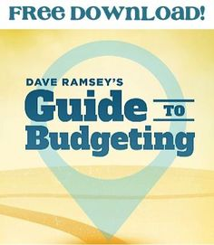 FREE e-Book: Dave Ramsey's Guide to Budgeting! - get motivated with these budget tricks and money saving tips! #thefrugalgirls budgeting budget tips #budget