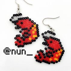 เม็ดบีท Shrimp crawfish seafood perler bead