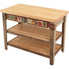 Sticks Kitchen Island Table KITISLND001-S317829, Artistic Artisan Designer Tables