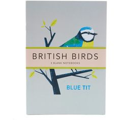 The Shopfloor Project British Birds Blue Tit Notebook Set (465 CZK) ❤ liked on Polyvore featuring home, home decor and stationery