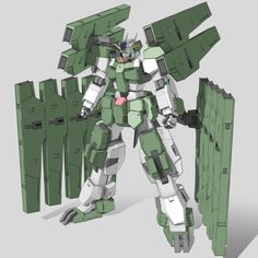 GN-010 Gundam Zabanya (aka Gundam Zabanya, Zabanya) is the successor unit to GN-006GNHW/R Cherudim Gundam GNHW/R featured in Mobile Suit Gundam 00 The Movie -A wakening of the Trailblazer-. The unit is piloted by Lockon Stratos. Front (Final Mission)