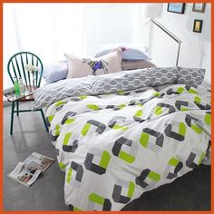 Pastoral bedding set Chirstmas gift 4pcs bedding duvet cover + flat sheet queen size bed linens AB side bed set Adult bedclothes