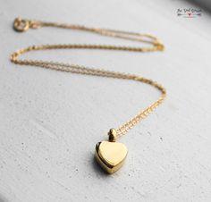 Gold Cremation Urn Necklace Custom Urn Jewelry by TheSadBasset