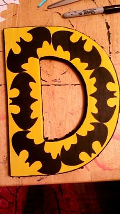 Batman Hand Painted Wooden Letter Batman Room, Superhero Room, Fun Crafts, Diy And Crafts, Crafts For Kids, Batman Crafts, Baby Boy Batman, Letter Designs, Painting Wooden Letters