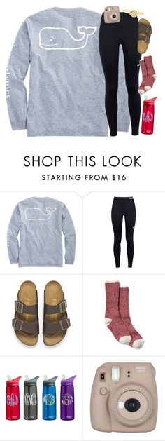 """""""Monday: Christmas Shopping"""" by mac-moses ❤ liked on Polyvore featuring Vineyard Vines, NIKE, Birkenstock, Fujifilm, Mark & Graham and hopeschristmascontest2016"""