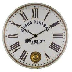 Grand Central Wall Clock with a functional Internal Pendulum http://www.clocksaroundtheeworld.com/floating-circus-clocks.html