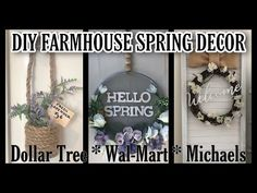 Let's have fun and make some Springtime decor for our . Dollar Tree Decor, Dollar Tree Crafts, Farmhouse Decor, Farmhouse Ideas, Farmhouse Style, Michael S, Summer Crafts, Dollar Stores, Diy Room Decor
