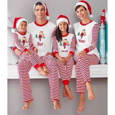 bcde052210 Christmas Pajamas Family Look Father Son Matching Clothes Kids Warm Long  Sleeve Sleepwear Matching Mother And