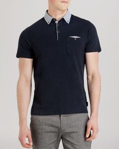 Ted Baker Limchec Check Collar Relaxed Fit Polo