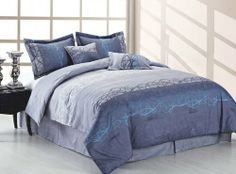 Duck River Textile Soho Studio Queen Comforter Set, Aqua Grey by Duck River Textile. $92.28. 100 Percent Polyester. Machine washable, tumble dry. Is a 6-piece reversible comforter set. Made in a gorgeous microfiber material. Soho 6-piece reversible comforter set is perfect for that young man or college student looking for something that isnt expensive but is a perfect fit for their room.This new microfiber material is just as soft as cotton but at nearly half the cost.