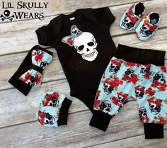 Sugar Skull Floral Baby Outfit