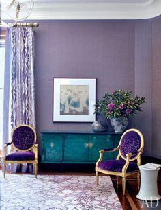aubergine living room - Google Search