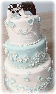 Gamer Wedding Cake, Funny Wedding Cakes, Wedding Sweets, Video Game Wedding, Wedding Games, Wedding Ideas, Love Cake Topper, Cake Pictures, Wedding Cake Inspiration