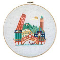 Pretty Little Italy Cross Stitch Chart | sewandso