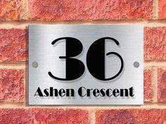 00093 | A5 | Designer House Sign Plaque | ART DECO Font