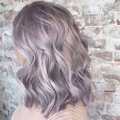 50 Fashionable Gray Ombre Hair Ideas for Women For many years, the gray color was one of the most important trends of the season. And today we ask for an assignment on the trendy gray ombre and hai… Lavender Grey Hair, Pastel Purple Hair, Grey Ombre Hair, Best Ombre Hair, White Hair, Blue Hair, Silver Purple Hair, Light Purple Hair, Purple Roses