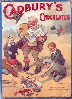 Vintage Ads Art - Cadburys Chocolates Ad Poster by Marvin Blaine Retro Poster, Poster Ads, Retro Ads, Poster Vintage, Vintage Prints, Pub Vintage, Vintage Candy, Vintage Labels, Vintage Signs