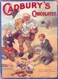 Vintage 1910 Cadbury chocolate ad.  Wow didn't know Cadbury was around that long!