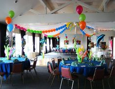 """Super cheap, super easy balloon garlands that instantly give your house a """"birthday party"""" vibe."""