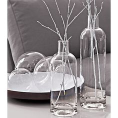 Clear glass spheres at Crate & Barrel