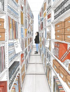 The British library sound archive preserves millions of recordings for future generations. Clare Mallison's latest illustration for the New Statesman. New Statesman, Kingston University, British Library, East London, Magazine, Black And White, Studio, Illustration, Anna