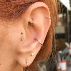 My wonderful client Bobbie's left ear, completed (for now ). All piercings hea… My wonderful client Bobbie's left ear, completed (for now ). All piercings hea… , Tragus Piercings, Piercing Tattoo, Piercing Face, Piercing Tragus, Pretty Ear Piercings, Ear Piercings Chart, Piercing Chart, Ear Peircings, Body Piercings