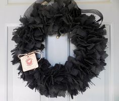 Black Burlap Wreath  22 inch Other Sizes avilable by RedRobynLane, $44.00