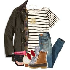 A fashion look from October 2016 by thefashionbyem featuring J.Crew, American Eagle Outfitters, Jennifer Zeuner, Kate Spade, Kendra Scott, Anastasia Beverly Hil...