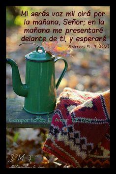 ☕Bendiciones de la mañana ~ 'Salmos 5: 1, 3, 11-12 (RV) presta oído a mis palabras, oh Señor, considere mi meditación. Mi serás voz mil oirá por la mañana, Señor; en la mañana me presentaré delante de ti, y esperaré. Que todos los que ponen su confianza en ti la alegría: dejar que ellos alguna vez voces de júbilo, porque tú los defiendes: que los que aman tu nombre se alegrará en ti. Porque tú, Señor, ¿bendice a los justos; con buenos ojos lo rodearás de tu como con un escudo.☕{DM}